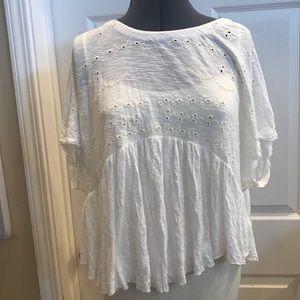 Free people white blouse sz Small